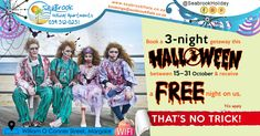Spoil your friends or family this to our Halloween getaway special on the always sunny KZN South Coast.
