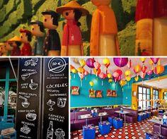 Bun Bo Vietnam, un restaurante vietnamita del Raval (Barcelona), que es una auténtica explosión de colores