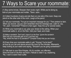 forget your roommate, try it on your spouse! hell, do it to your kids :D