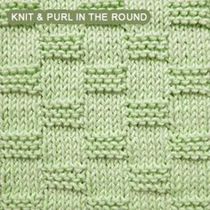 [Knit and Purl in the round] Nice textured stitch and fairly simple to do.