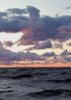 Waving sea at sunset <3 :)