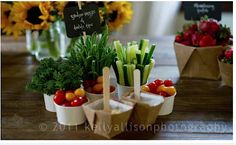 Veggie snack serving ideas for garden themed party for kids