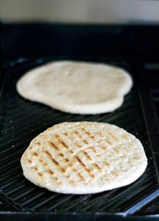 Grilled herbed flatbread
