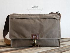 Fullgive CANVAS/LEATHER SATCHEL. This quality combo of waxed canvas and oil tanned leather guarantee these bags will look remarkable as you use it for