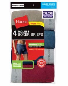 Hanes Value Pack 5 Tagless Comfort Flex Briefs New Nwt