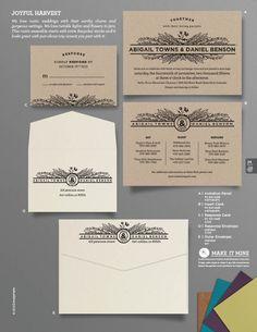 """Joyful Harvest"" Wedding Invitation From Envelopments"