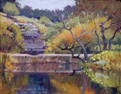 Artists Of Texas Contemporary Paintings and Art - Jimmy Longacre_Texas impressionist landscape paintings_WHEN THE SUN DOESN'T SHINE