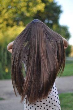 long straight hair. PRETTY!