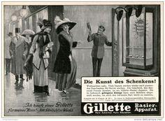 Original-Werbung/Inserat/ Anzeige 1911 - GILLETTE - ca. 180 x 130 mm