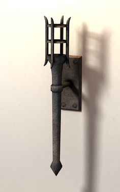 Iron Medieval Wall Torch Removable Dungeon Lighting