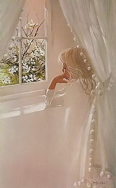 Vintage Carolyn Blish 1978 Daydream Signed Numbered Framed Fine Art Lithograph