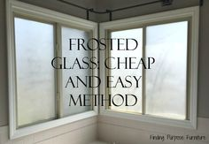 Frosted Glass for Bathroom Window Privacy - Finding Purpose Furniture