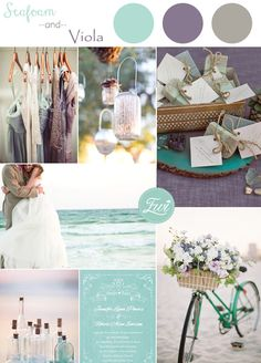seafoam and viola wedding color ideas and wedding invitations 2015 trends