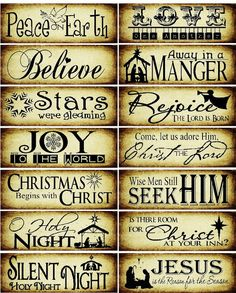 Can do these using the cricut, I'm pretty sure - 14 Christ centered paint stick Christmas tree ornaments. Christmas Wood, Christmas Quotes, Christmas Signs, Homemade Christmas, Christmas Projects, Winter Christmas, Christmas Tree Ornaments, Holiday Crafts, Christmas Decorations