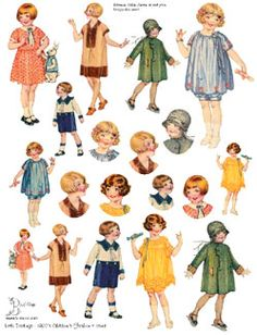 Children's Fashion Illustrations from the 1920's