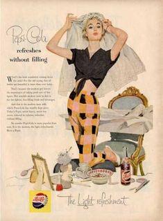 Pepsi Cola Make Up Room Decor Woman Ad T (1955)