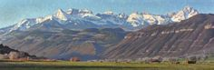 Early Spring Near Ridgway 20″ x 60″ Oil on Canvas. By Jay Moore
