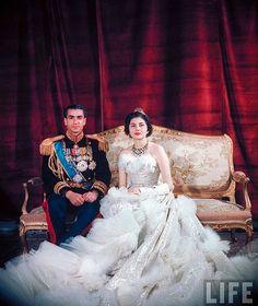 Princess Soraya of Iran at her wedding to Mohammad Reza Pahlavi, 1951
