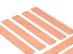 Copper Customized Name Bar 10 Raw Copper Stamping Connector