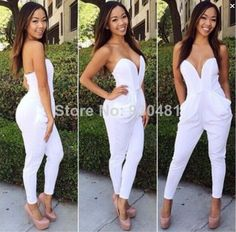 Apprehensive Sexy Jumpsuit Pu Leather Hollow Out Bandage Jumpsuit Pants String Women Halter Bodycon Rompers Bust Open Party Clubwear
