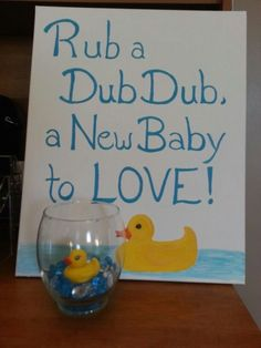 Jessi's Rubber ducky theme original artwork and centerpieces - Modern Design Ducky Baby Showers, Rubber Ducky Baby Shower, Baby Shower Duck, Simple Baby Shower, Baby Shower For Boys, Rubber Ducky Party, Baby Shower Decorations For Boys, Baby Shower Centerpieces, Baby Shower Themes