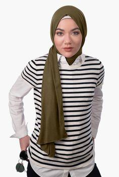 PINTEREST: @MUSKAZJAHAN - Premium Jersey Hijab - Dark Olive
