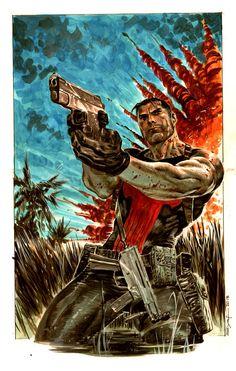 Punisher in Vietnam http://frikinianos.es/punisher-in-vietnam/ #punisher #comic #art #ilustration #ArdianSyaf #Syaf #Marvel #MarvelComic