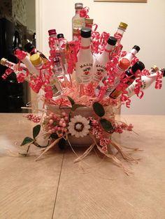 Alcohol Gift Baskets, Liquor Gift Baskets, Alcohol Gifts, Alcohol Bouquet, Liquor Bouquet, Candy Bouquet, Beer Bouquet, Cute Gifts, Diy Gifts