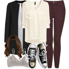 Allison Inspired Outfit with Red Jeans by veterization on Polyvore featuring H&M, Joseph, Topshop, Madewell, Victoria's Secret and Fat Face Fashion Tv, Fashion Pants, Autumn Fashion, Womens Fashion, Trendy Outfits, Fall Outfits, Cute Outfits, Teen Wolf Outfits, Red Jeans
