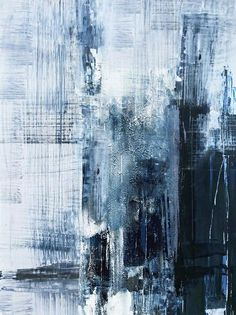 Blue Abstract Painting, Abstract Canvas, Canvas Art, Abstract Paintings, Landscape Paintings, City Art, Large Wall Canvas, Blue Canvas, Beach Canvas