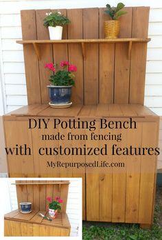 DIY potting table bench