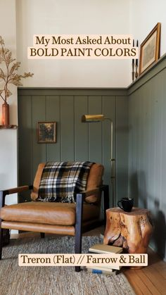 Paint Colors For Living Room, Paint Colors For Home, Green Living Room Walls, Interior House Paint Colors, Entryway Paint Colors, Family Room Colors, Modern Paint Colors, Office Paint Colors, Green Paint Colors