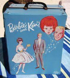 1963 Mattel Barbie and Ken Case.  Nancy had a black patent leather look Barbie case.