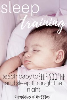 Sleep training your baby to self soothe and sleep through the night. One mom shares how she did it in just a few nights!