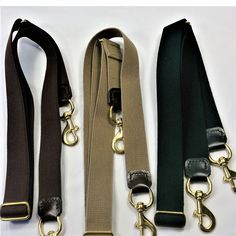 853c5fdc86 Replacement shoulder straps in webbed canvas   leather with solid brass  hardware.