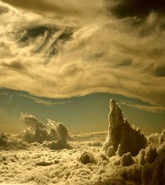 Riding above the clouds / it's such a peaceful space, yet alien landscape of sorts. This place is getting me down. Above The Clouds, Sky And Clouds, Beautiful Sky, Beautiful World, Cool Pictures, Cool Photos, Amazing Photos, Random Pictures, Dame Nature