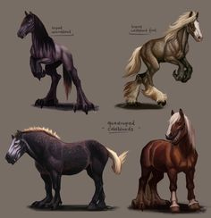 """bogleech: """" poondragoon: """" notesz-b: """" A few previous designs without a tail, except the quadrupeds. Not sure to give them one yet, their balance doesn't depend on it. Don't want to waste those pretty. Creature Drawings, Horse Drawings, Animal Drawings, Cool Drawings, Creature Concept Art, Creature Design, Fantasy Beasts, Fantasy Art, Pet Anime"""