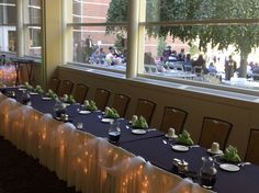 Head table set up at the Fetzer Center!