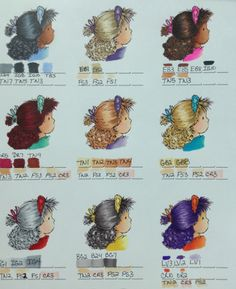 Spectrum Noir Hair Color Chart 1 by jennie black - Cards and Paper Crafts at Splitcoaststampers