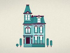 Victiorian house illustration.