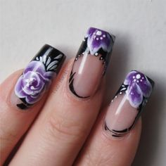 Purple french nails