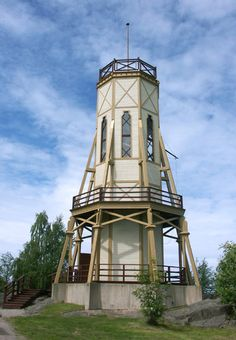 The watchtower Kiikartorni in Rauma, Finland Wooden Architecture, Western Coast, Old City, Beautiful Buildings, The Neighbourhood, Lighthouses, Around The Worlds, Explore, Places