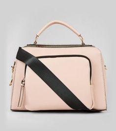 - Leather-look finish- Chunky zip detail- Pocket front design- Adjustable shoulder strap- L: W: H: Front Design, Luggage Bags, Shoulder Strap, Pocket, Zip, Purses, Leather, Stuff To Buy, Detail