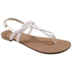 Women's Merona® Esma Sandal - Assorted Colors from Target. Shop more products from Target on Wanelo. Cute Sandals, T Strap Sandals, Flip Flop Sandals, Women's Shoes Sandals, Shoe Boots, Flats, Flat Shoes, Heels, Flip Flops