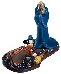 WDCC Disney Classics Fantasia 2000 Yensid And Mickey Oops #WDCCDisneyClassics #Art.Bucket Handle: Metal. Regular Release: Limited to year of production-2000. Dealer Display: Numbered Limited Edition (NLE) of 2,000 in honor of the films release year. Music: The Sorcerer's Apprentice - Dukas.
