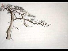 """Живопись деревьев в стиле у-син. Китайская живопись сосны. Живые картины """"Горная сосна"""" - YouTube — Яндекс.Видео"""