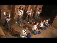 Broom Jam... STOMP Jr. !!!  Kids about... Gr. 5/6/ 7... ?  Broom // Dust  pan routine.