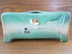 RARE WELLER TUTONE TRI-CORNER BOWL / PLANTER 1920'S