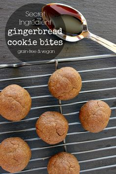 Looking for a healthy gluten free cookie recipe? This Secret Ingredients Gingerbread Cookie Recipe is Grain Free, Sugar Free, and Dairy and Egg Free too (vegan). They are made with a special kind of flour that might be new to you. Healthy Cookie Recipes, Paleo Dessert, Healthy Sweets, Real Food Recipes, Dessert Recipes, Paleo Food, Paleo Recipes, Healthy Food, Ginger Bread Cookies Recipe