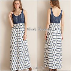 Crochet bodice maxi This gorgeous crochet bodice maxi features a great print and is fully lined. Price is firm unless bundled. 100% polyester - S(2/4) M(6/8) L(10/12) Dresses Maxi